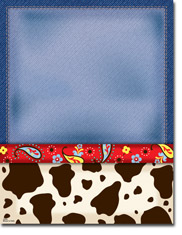 Paper So Pretty - Blank Designer Papers (Cow Print) (DP998)